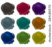 vector wax seals collection   Shutterstock .eps vector #284180570
