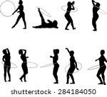 the set of 9 hula hoop... | Shutterstock .eps vector #284184050