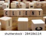 client word written on wood... | Shutterstock . vector #284186114