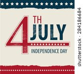 postcard in celebration of... | Shutterstock .eps vector #284186684