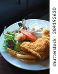 fish and chips | Shutterstock . vector #284192630