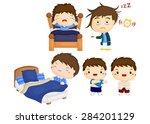 waking up vector set | Shutterstock .eps vector #284201129