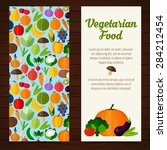 fruits and vegetables banners.... | Shutterstock .eps vector #284212454