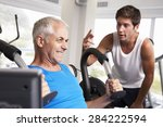 middle aged man being... | Shutterstock . vector #284222594
