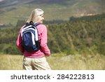 Senior Woman On Hike Through...