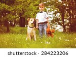 Child With Dog And Teddy