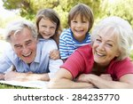 grandparents and grandchildren... | Shutterstock . vector #284235770