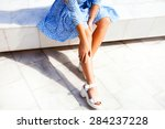 elegant young lady in... | Shutterstock . vector #284237228