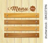 menu wood board design... | Shutterstock .eps vector #284237396