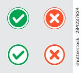 set of flat design check marks...