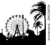 vector illustration of black... | Shutterstock .eps vector #284238554