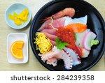 Donburi Sasimi   Rice With...