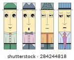 squared men faces   moods  ... | Shutterstock .eps vector #284244818