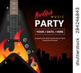 hard rock concert  party poster ... | Shutterstock .eps vector #284246843