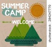summer camp poster | Shutterstock .eps vector #284247770