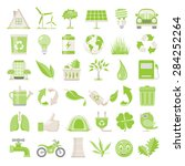 flat icons   environmental... | Shutterstock .eps vector #284252264