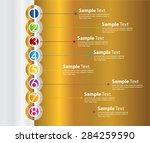 gold silver white modern time... | Shutterstock .eps vector #284259590