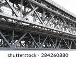 close up of bridge steel... | Shutterstock . vector #284260880
