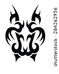 tribal tattoo vector design... | Shutterstock .eps vector #284262956