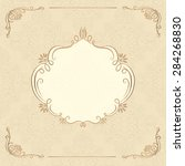decorative background with... | Shutterstock . vector #284268830