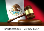 law and justice of mexico... | Shutterstock . vector #284271614
