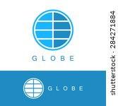 globe logo template. world sign ... | Shutterstock .eps vector #284271884