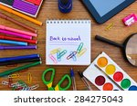 stationery objects. office and... | Shutterstock . vector #284275043