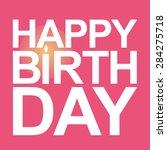 happy birthday card vector. | Shutterstock .eps vector #284275718