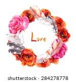 vintage gypsy style. romantic...   Shutterstock . vector #284278778