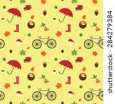 vector seamless pattern with... | Shutterstock .eps vector #284279384