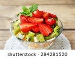 Dessert Of Fresh Fruits In...
