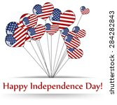 usa 4th july independence day...   Shutterstock .eps vector #284282843