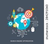 seo optimization icons. web... | Shutterstock .eps vector #284291060