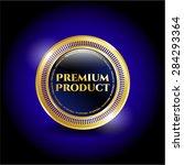premium product gold shiny badge   Shutterstock .eps vector #284293364
