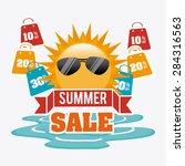 shopping design over white... | Shutterstock .eps vector #284316563