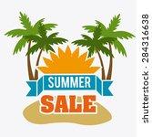 shopping design over white... | Shutterstock .eps vector #284316638