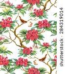 flowering branch of... | Shutterstock . vector #284319014