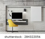 mock up work space  3d... | Shutterstock . vector #284322056