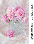 beautiful fresh pink roses on a ... | Shutterstock . vector #284323166