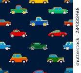 seamless wallpaper of cars on... | Shutterstock .eps vector #284333468