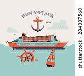 beautiful four colored 'bon...   Shutterstock .eps vector #284337560