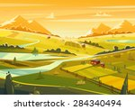 Rural Landscape. Vector Design...