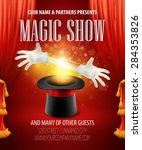 magic trick performance  circus ... | Shutterstock .eps vector #284353826
