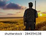 hunting  hunter  shooting...   Shutterstock . vector #284354138