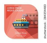 transportation ferry flat icon... | Shutterstock .eps vector #284354483