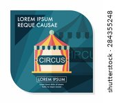 circus flat icon with long... | Shutterstock .eps vector #284355248