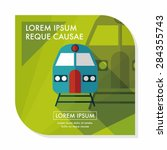 transportation subway flat icon ... | Shutterstock .eps vector #284355743