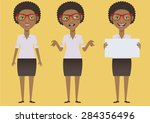 ethnic afro business woman... | Shutterstock .eps vector #284356496