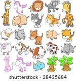 giant animal set vector... | Shutterstock .eps vector #28435684