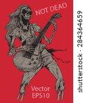 rock human skeleton  musician...   Shutterstock .eps vector #284364659
